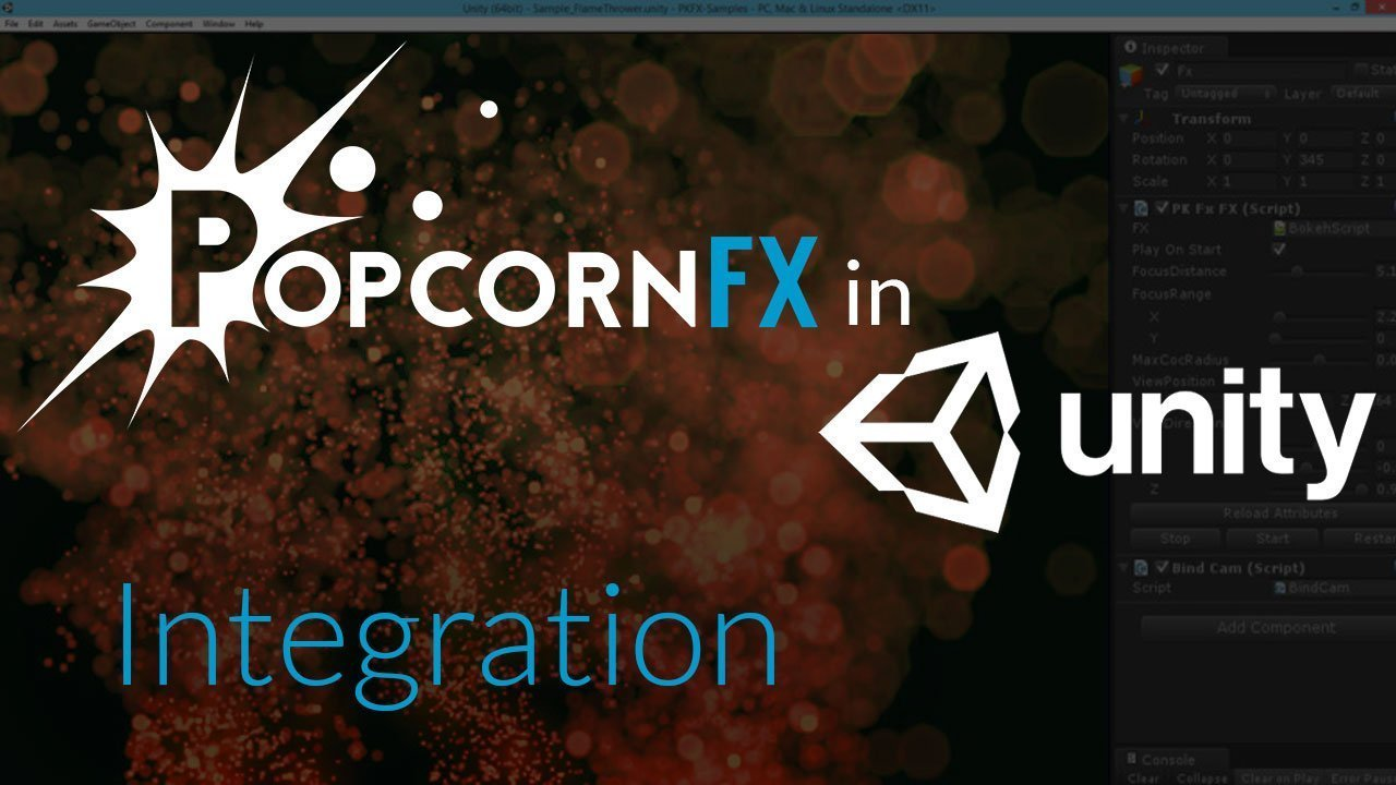 Video PopcornFX in Unity - Integration