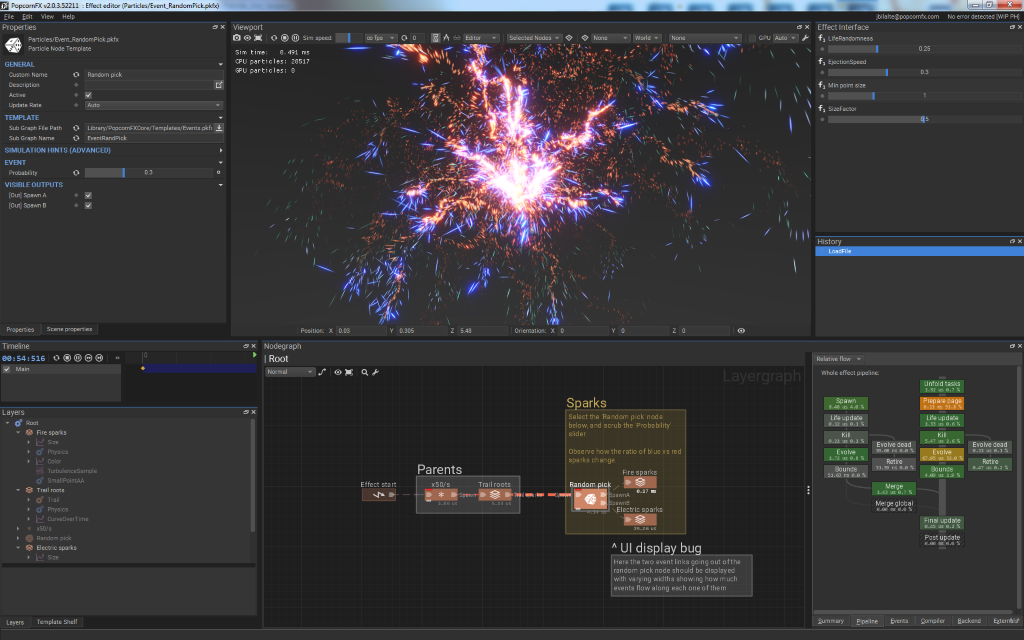 PopcornFX documentation - Effect editor