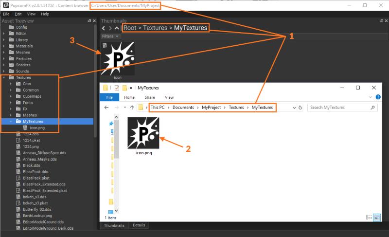 Content Browser - PopcornFX v2 Official Documentation