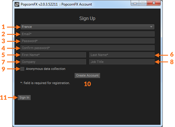Account creation & login - PopcornFX v2 Official Documentation