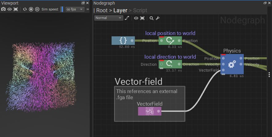 Vector field sampler