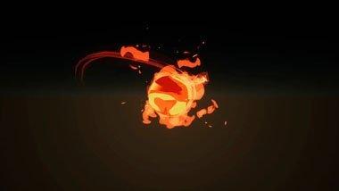 PopcornFX - fire orb