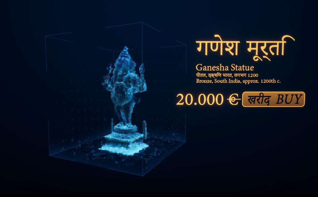 PopcornFX Portfolio Ganesha Hologram