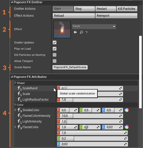 UE4 Plugin: Emitter details panel