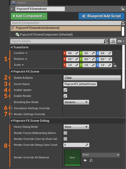 UE4 Plugin: Scene details panel
