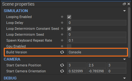Build versions: preview through scene interface panel