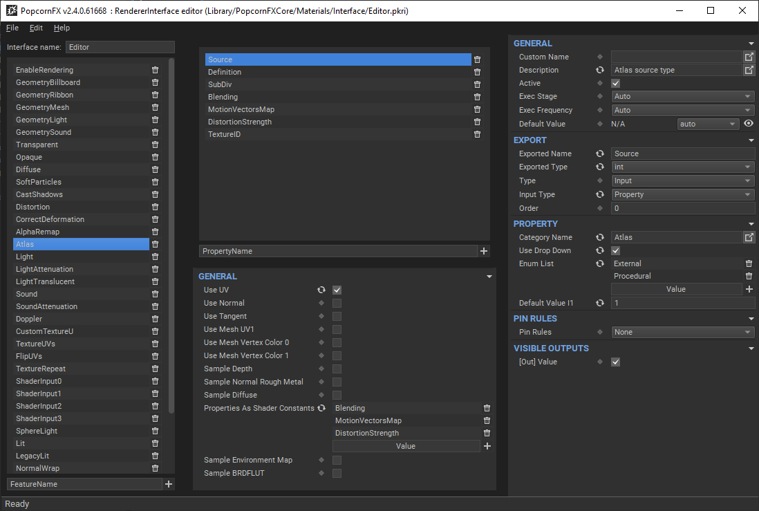 Renderer Interface Editor