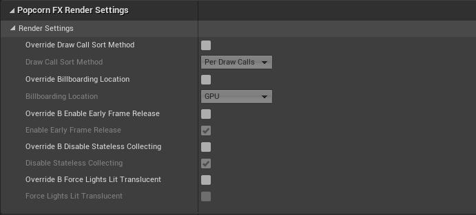 UE4 Plugin runtime settings - Render